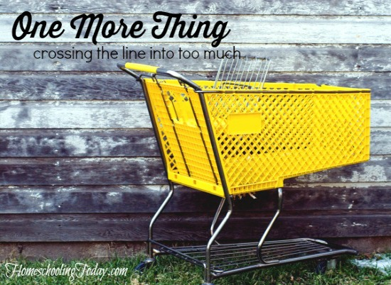 One More Thing: crossing the line into too much - HomeschoolingToday.com