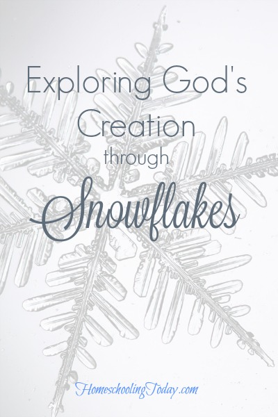 exploring God's creation snowflakes