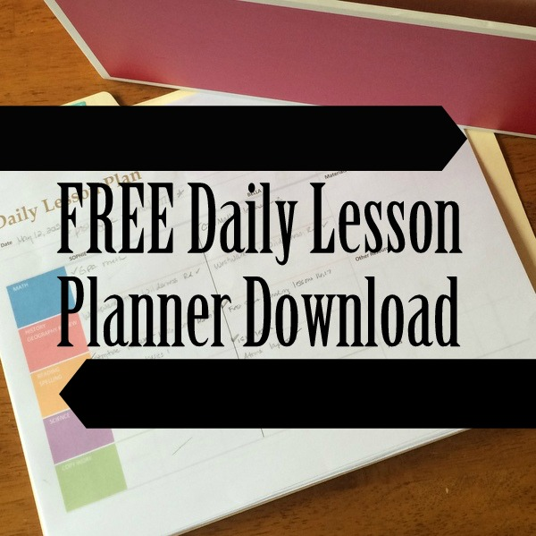 FREE Daily Lesson Planner Download