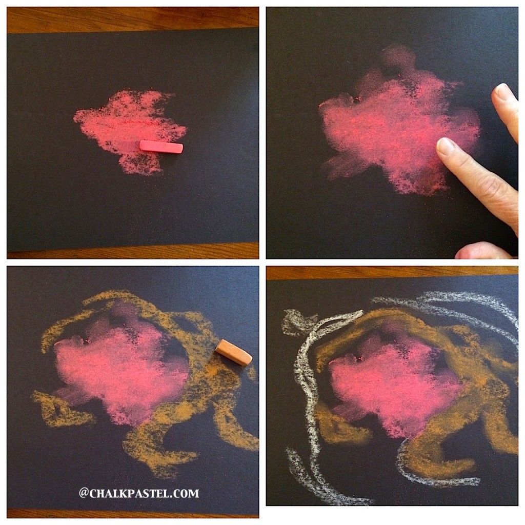 Nebula Chalk Art Tutorial - Homeschooling Today Magazine