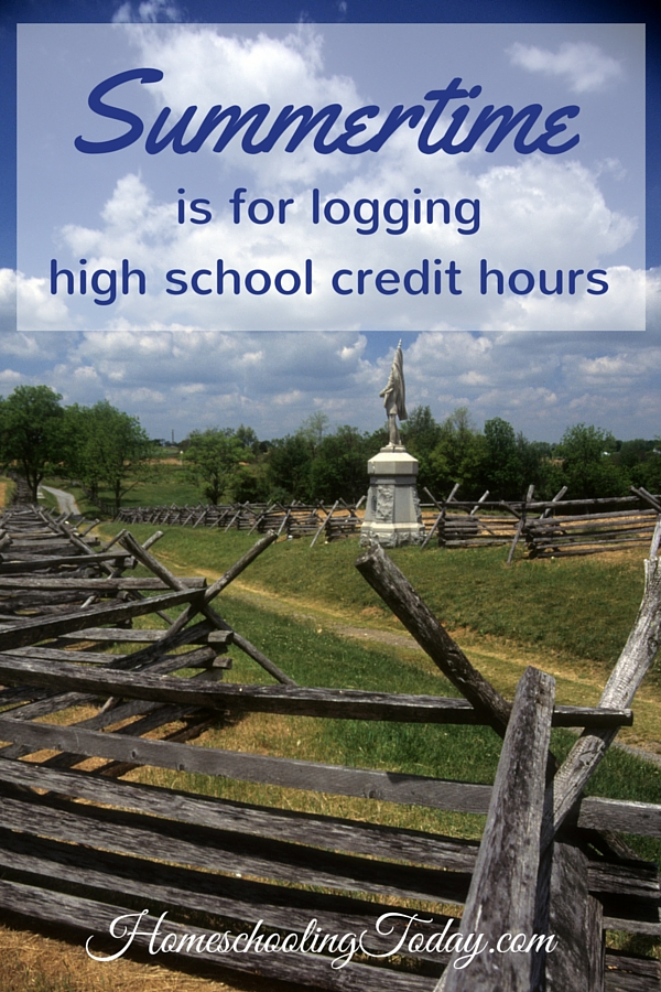Summertime is for logging high school credit hours - Homeschooling Today Magazine