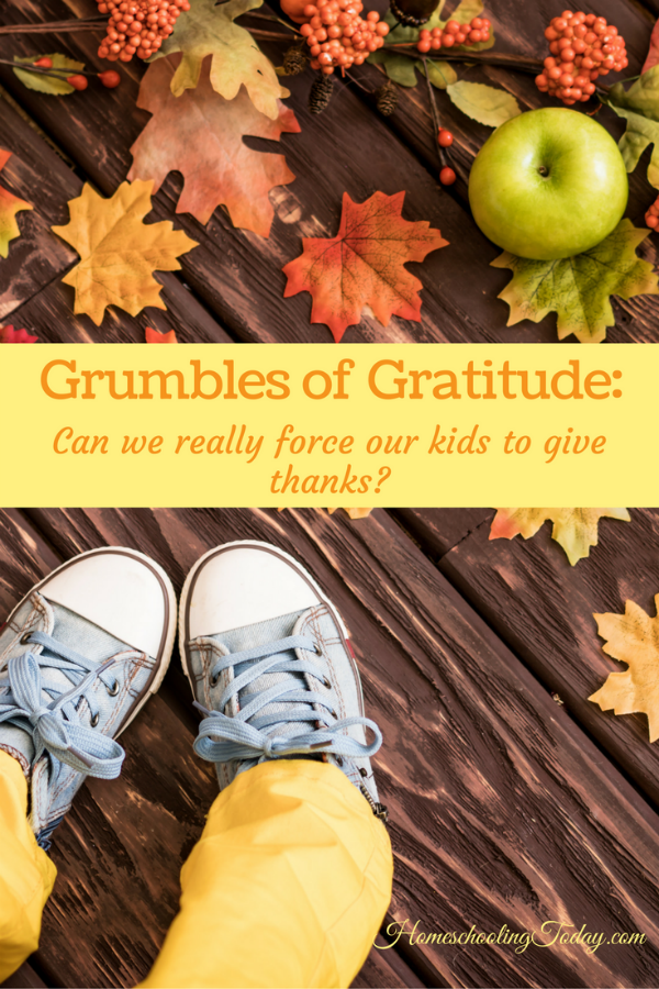 Can we really force our kids to give thanks?  - Thanksgiving - Homeschooling Today