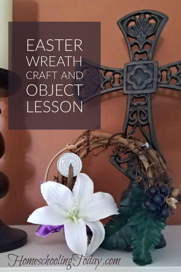 easter wreath craft and object lesson - HomeschoolingToday.com