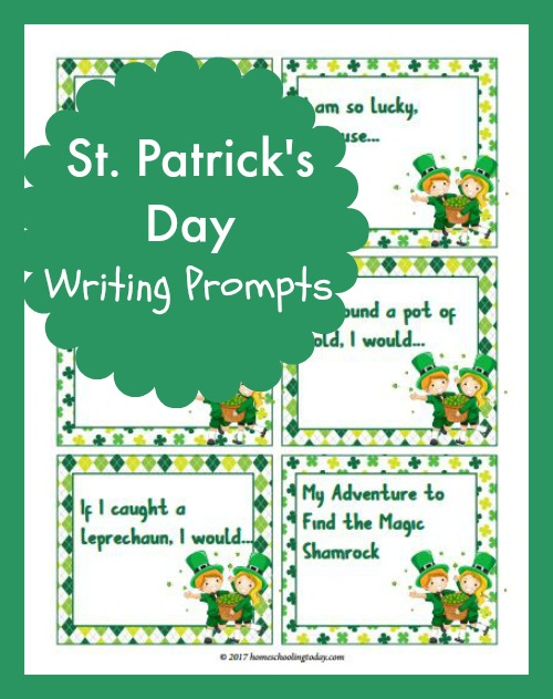 St Patrick's Day Writing Prompts - Homeschooling Today