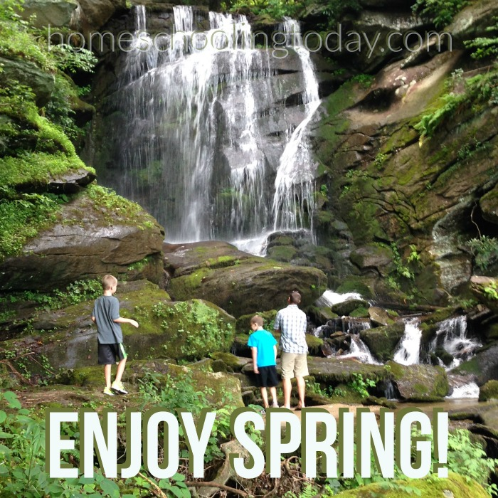 Get outside and enjoy spring! Encouragement for homeschoolers - HomeschoolingToday.com