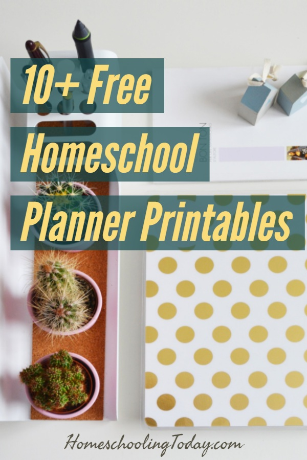 Free Homeschool Planner Printables - Homeschooling Today