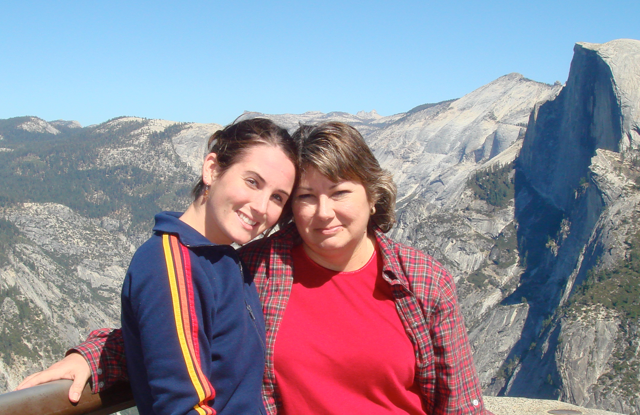 Author as a teen with her mother in the mountains