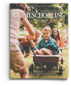 cover of issue with mom pulling kids in a wagon