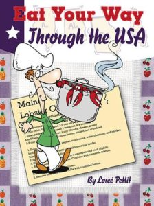 Cover of cookbook with recipes for each state in the USA