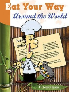 Cover of cookbook with recipes for countries around the world